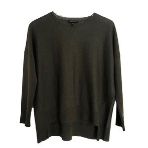 Eileen Fisher Hi-Low Wool Blend Pullover Sweater